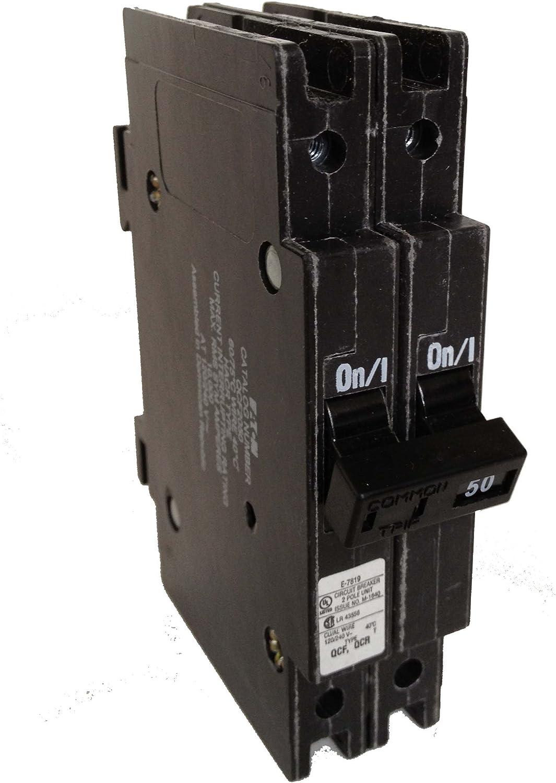 BQ2502150 Cutler-Hammer 50 Amp 2 Pole 120 Volt Circuit Breaker NEW!