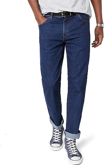 Wrangler Texas Stretch Jeans Regular Fit New Mens Black Blue Darkstone Denim