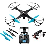 Drone with Camera Live Video - U45W Blue Jay WiFi FPV Remote Control HD Camera Drones with 2 Batteries Altitude Hold - 1 Key Control VR RC Drone Quadcopter