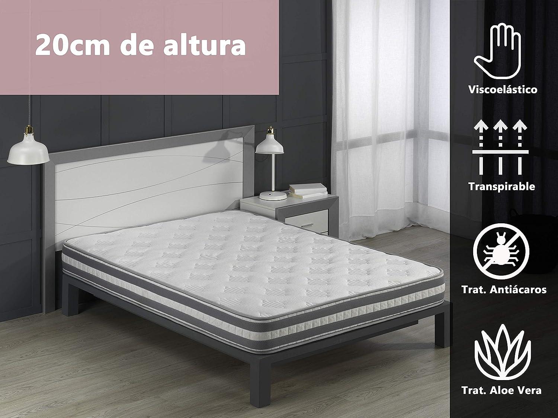 Dormio Colchón SuperVisco- Colchón Viscoelástico 105x190x20. (Todas las medidas).: Amazon.es: Hogar