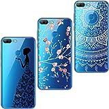 ivencase 3x Cover Honor 9 Lite Silicone Huawei Honor 9 Lite Custodia Morbido TPU Flessibile Gomma Opaco Cover Antiscivolo Satinato, Ultra Sottile Cassa Protettiva