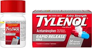Tylenol Extra Strength Rapid Release Gels with Acetaminophen, Pain Reliever & Fever Reducer, 24 ct