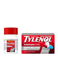 Tylenol Extra Strength Rapid Release Gels with Acetaminophen, Pain Reliever & Fever...