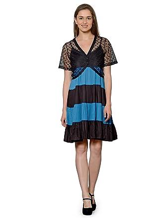 db76215b2523 PATRORNA Women s Flared Cocktail Midi Dresses with Black Net Shrug in Black  Turquoise (Size 2XL