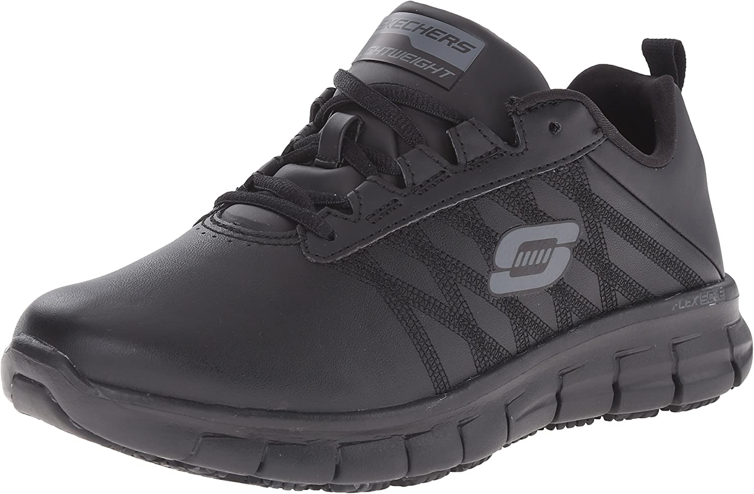 Skechers for Work Women's Sure Track Erath Athletic Lace Slip Resistant Boot