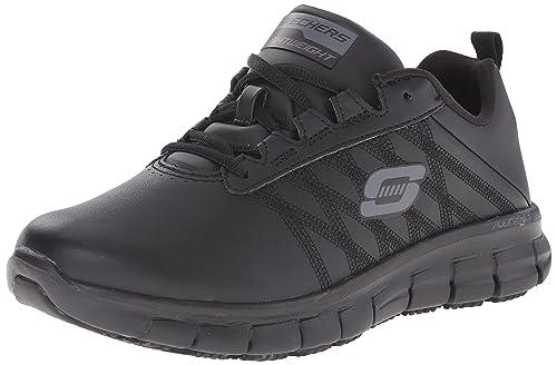 268f7b6f622de Zapatos De Trabajo Antideslizante De Skechers Seguro De Pista para Mujeres   Amazon.es  Zapatos y complementos