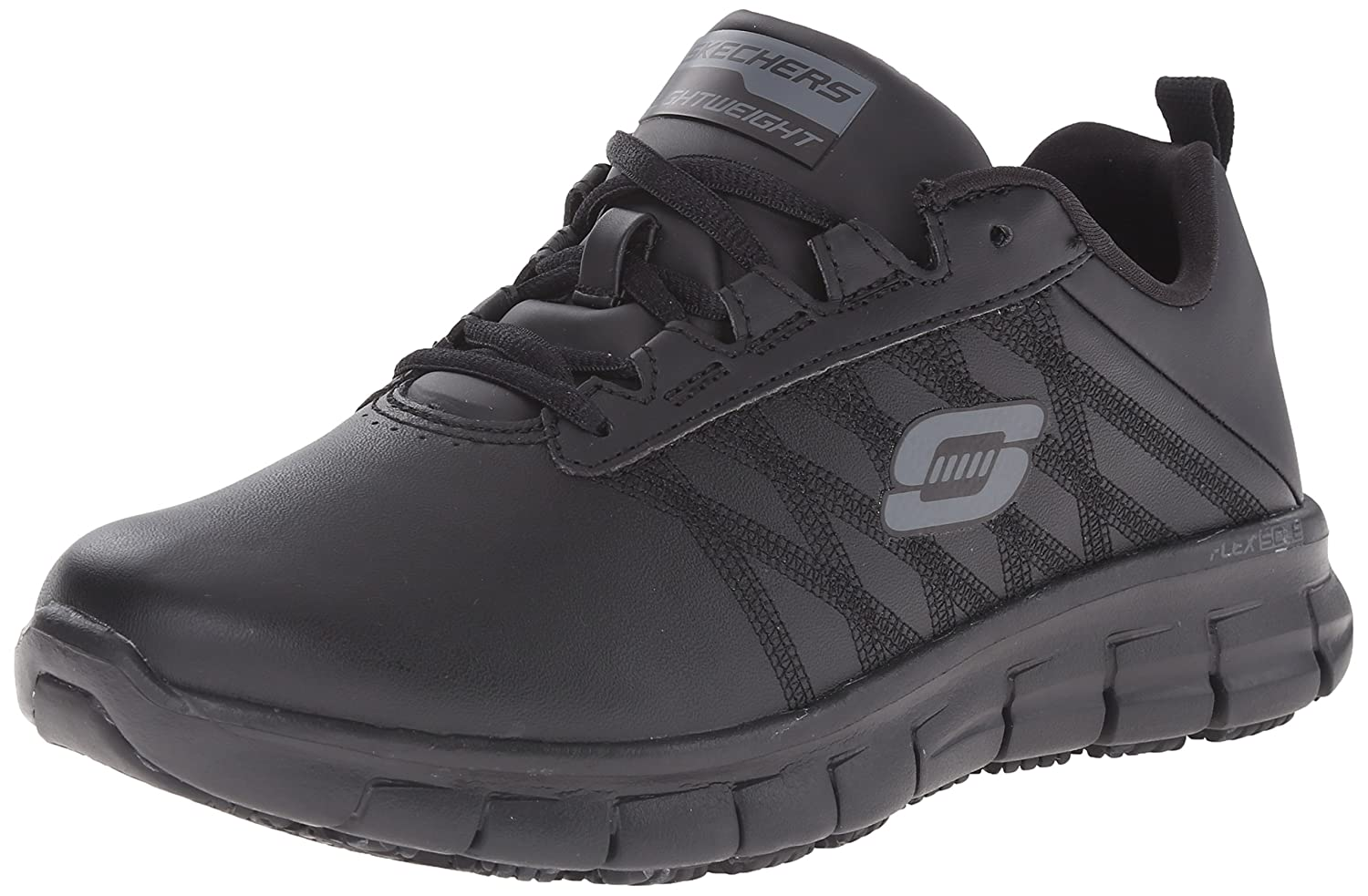 Skechers for Work Women's Sure Track Erath Athletic Lace Slip Resistant Boot B00UBJ23KU 7.5 B(M) US|Black