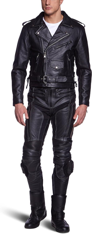 Gr/ö/ße 68 Protectwear LJ-CO Motorradlederjacke Chopperjacke schwarz