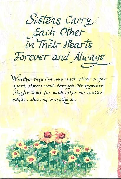 Hermanas llevar cada otros en sus corazones para siempre y siempre ...