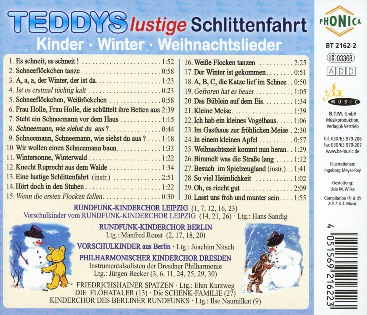 Lustige Weihnachtslieder Texte.Teddys Lustige Schlittenfahrt Kinder Weihnachtslieder