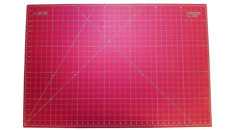 Quilted Bear Pink auto-rigenerante doppio quilting tappetino da taglio, 61x 91,4cm (60cm x 90cm)
