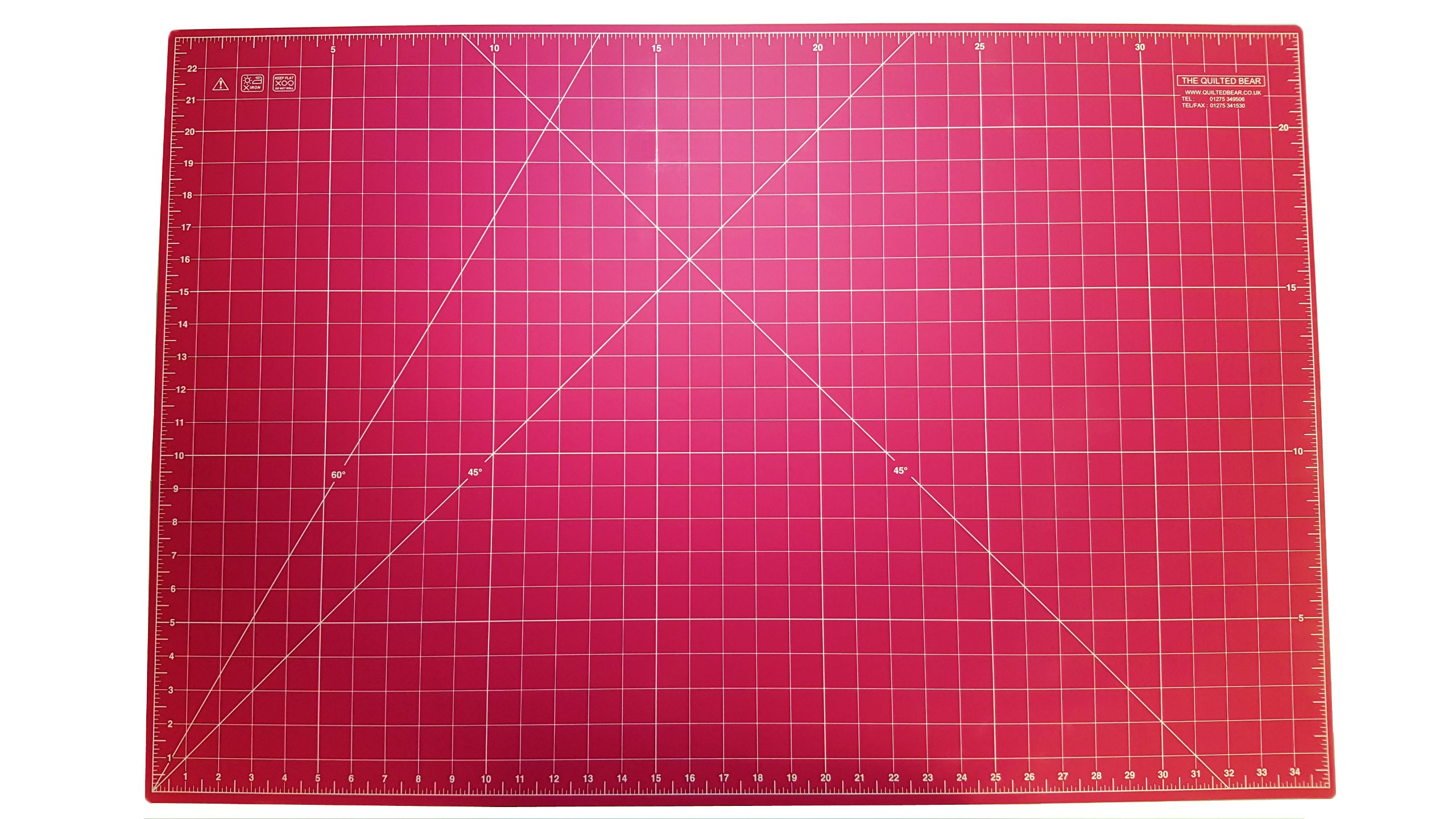 Quilted Bear Pink Self-Healing Double Sided Quilting Cutting Mat 24'' x 36'' (60cm x 90cm)