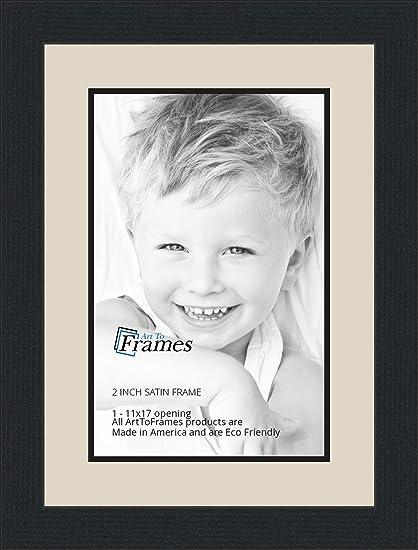 Amazon.com - 11x17 / 11 x 17 Picture Frame Satin Black .. 2\'\' wide ...