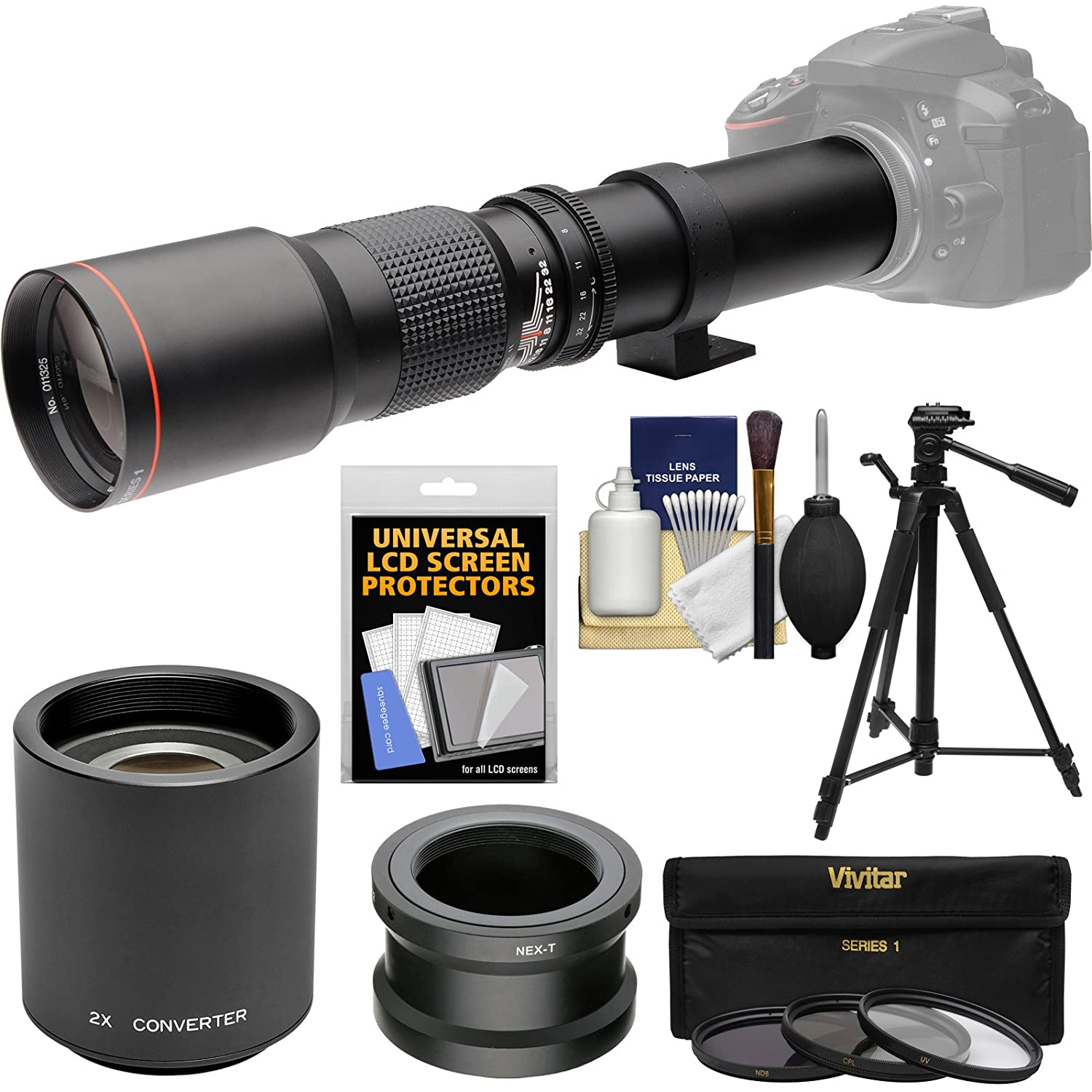 iConcepts 2.0x High Definition Telephoto Conversion Lens for Fujifilm Finepix S9600
