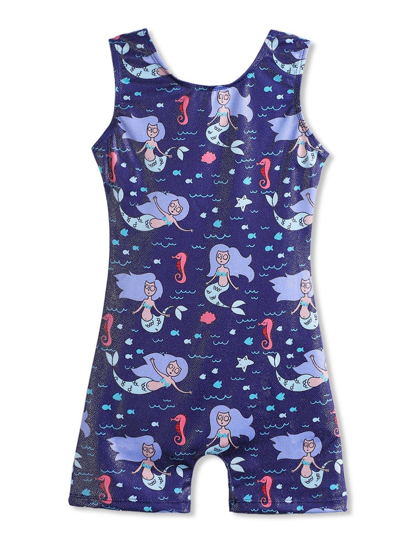 Toddler Leotards for Girls Gymnastics mermaid 2t 3t dark blue sparkle unitard dance wear by HOZIY