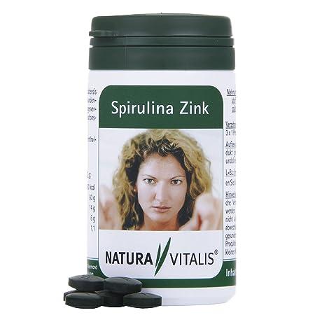 Natura Vitalis spiru Lina de zinc, 180 presslinge: Amazon.es: Salud y cuidado personal