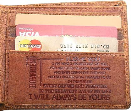 Valentine Owls Genuine Leather Front Pocket Wallet Personalized