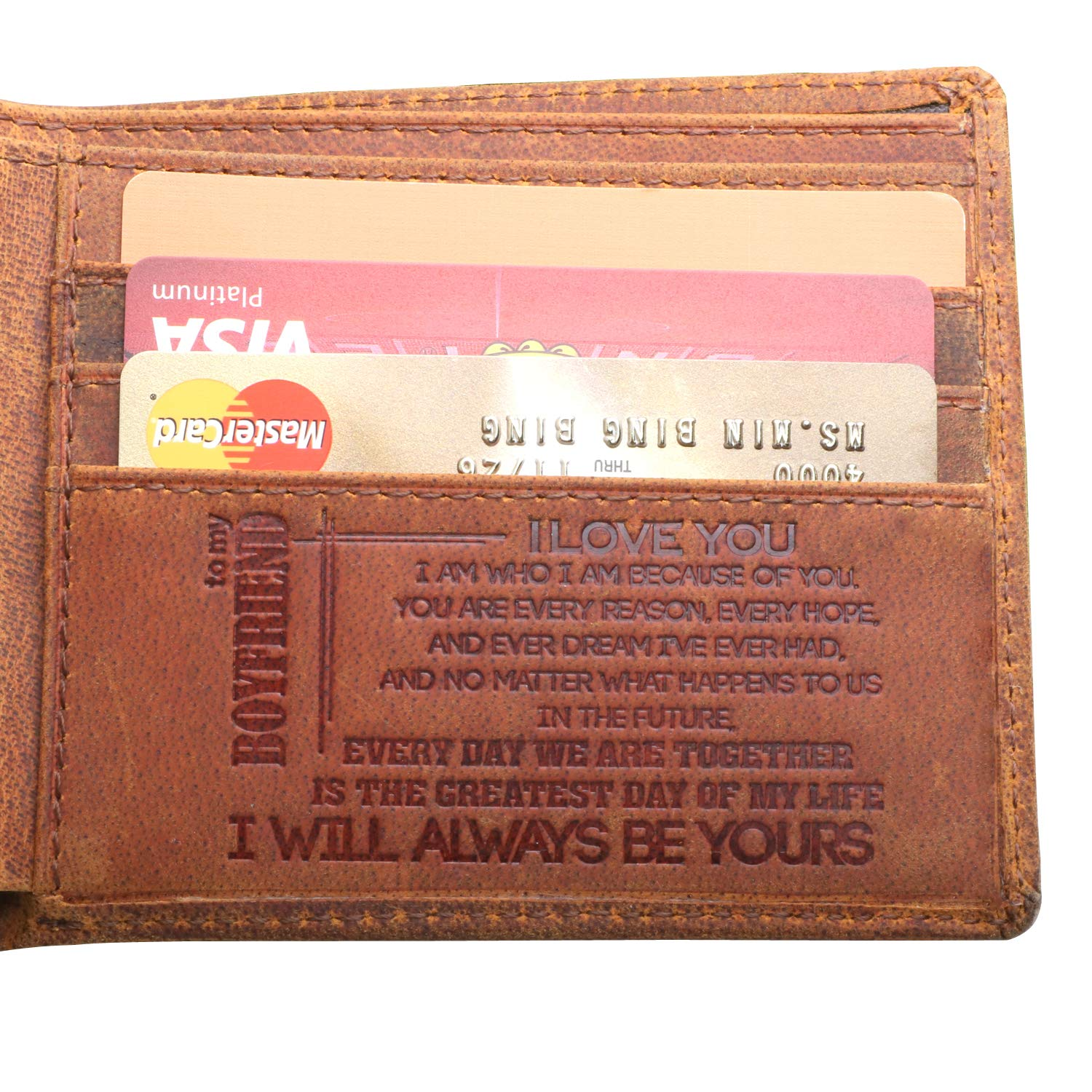 Heartwarming sentiments on beautiful wallet