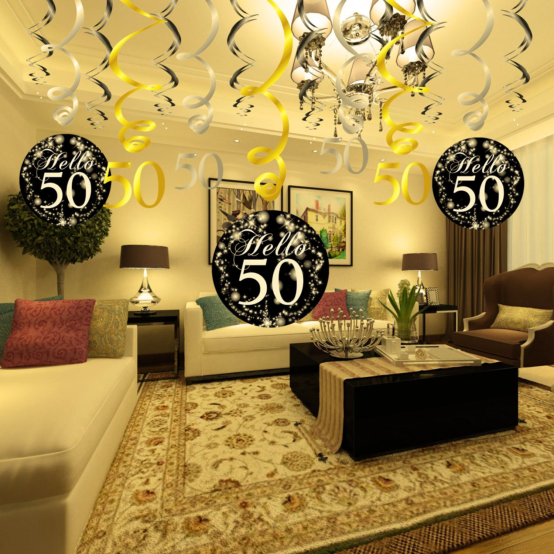 30th Birthday Decoration, Konsait 30th Birthday Hanging Swirl (15 ...