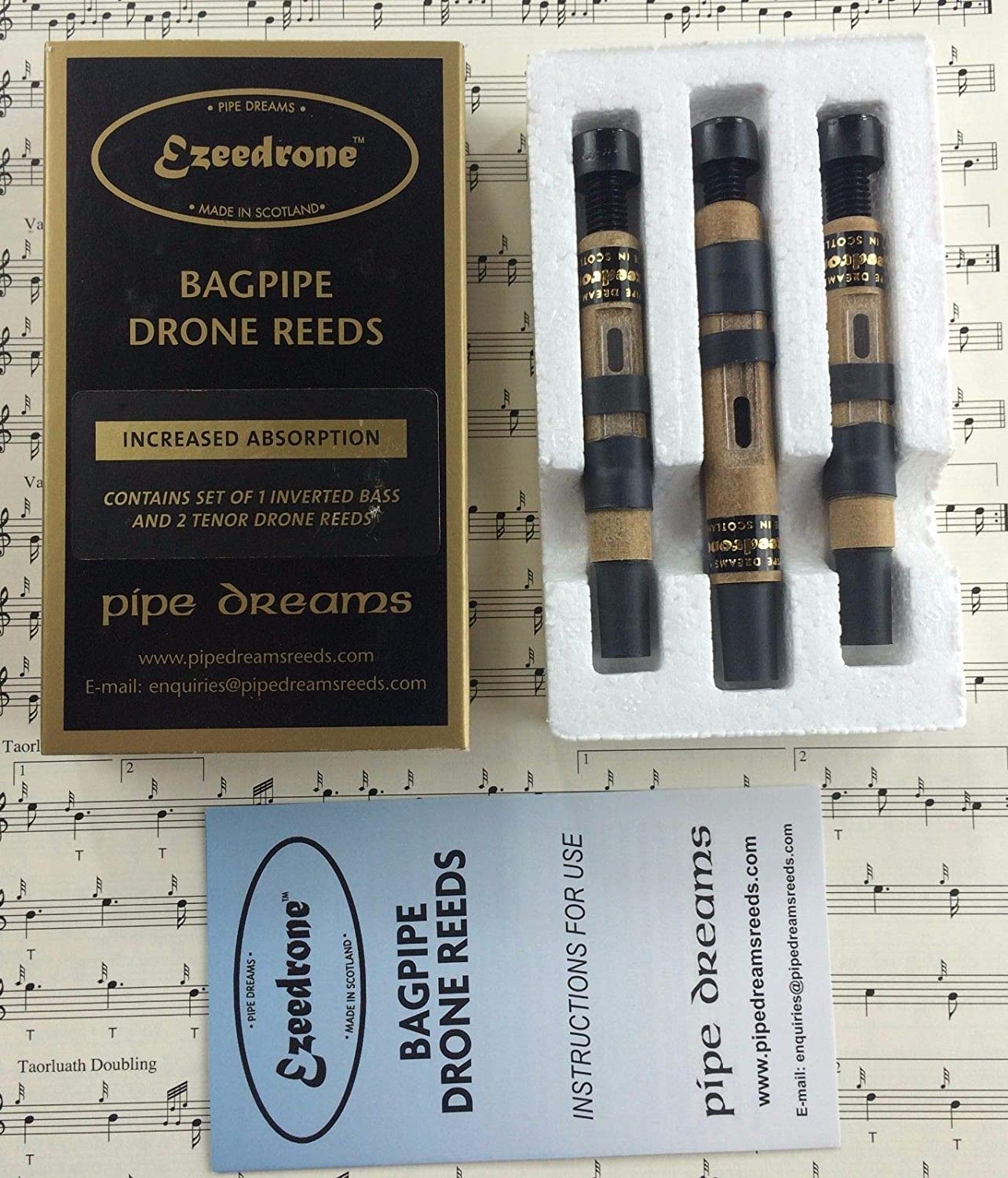 HW NEW GREAT HIGHLAND BAGPIPE SYNTHETIC DRONE REEDS//BAGPIPES DRONE REEDS PLASTIC