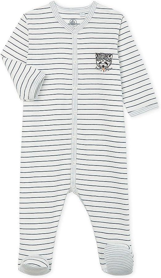 Petit Bateau Baby-Jungen Dors Bien Schlafstrampler