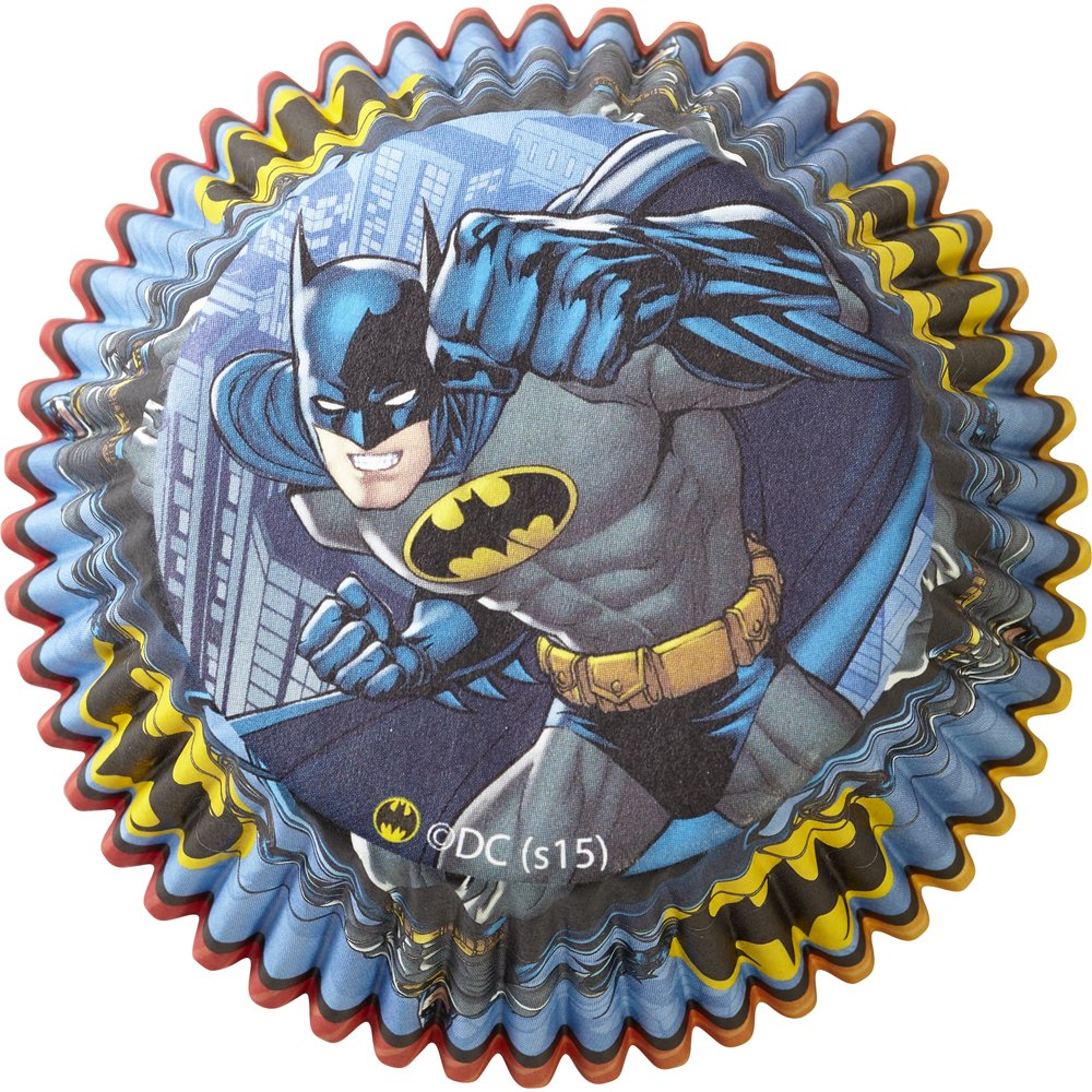 Wilton 50 Count Batman Baking Cups, Multicolor 415-5140