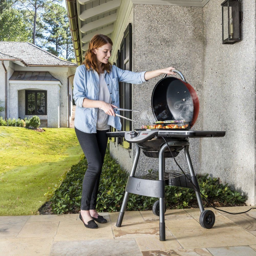 Electric BBQ Grill Non Stick Barbecue Smokeless Outdoor Indoor Camping Cooking 1350 w US by Alek...Shop (Image #2)