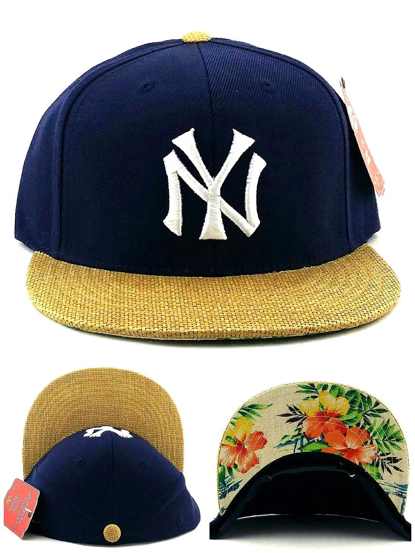 af7d2ed1878 American Needle New York Yankees New Vintage Basket Weave Floral Blue Era  Snapback Hat Cap