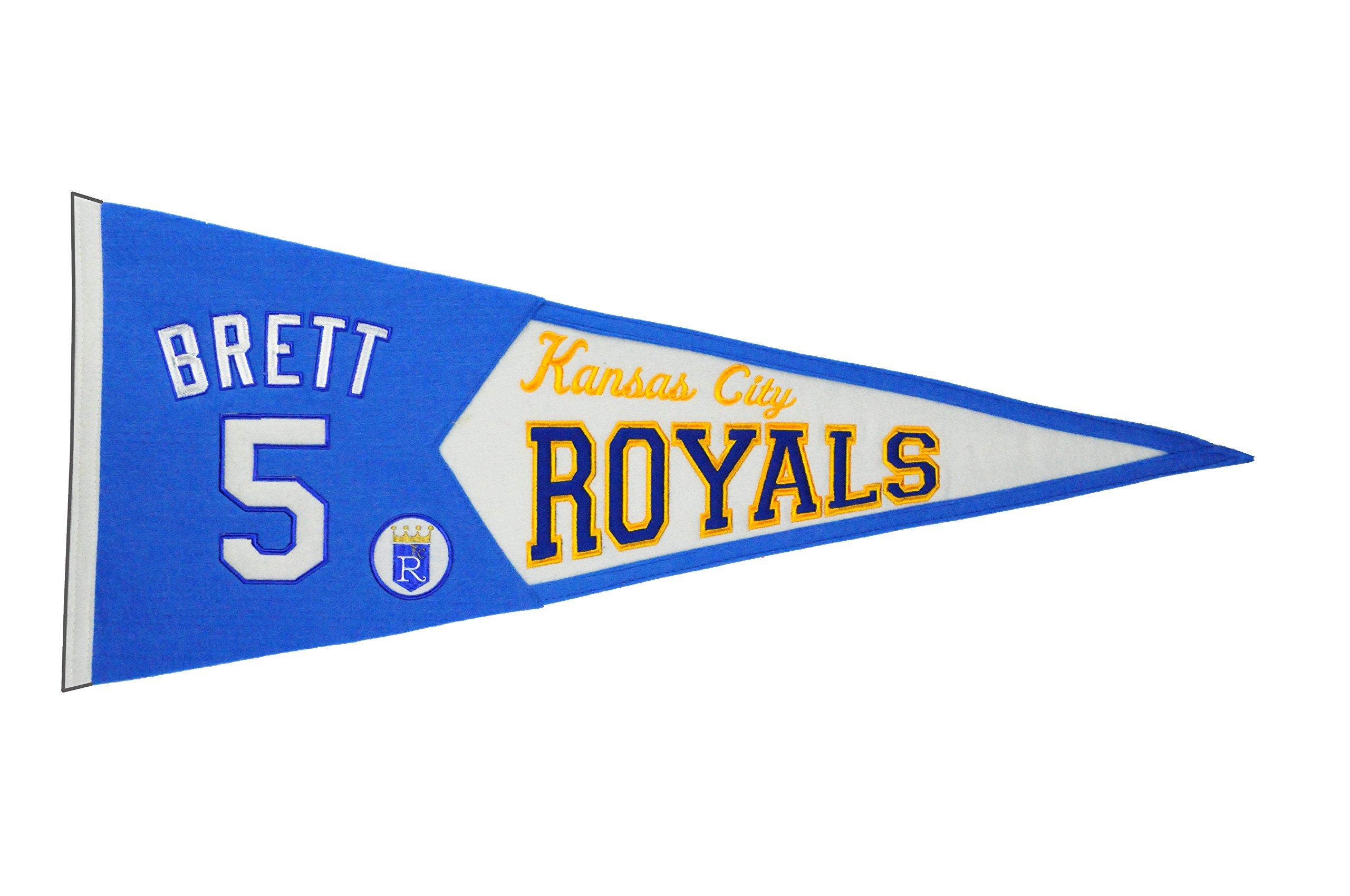 MLB Kansas City Royals Men's Brett Legends Pennant, Small, Blue by Winning Streak