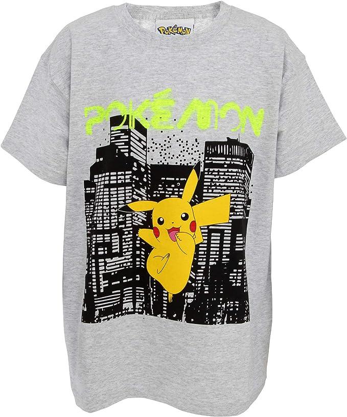 Pikachu Maglietta a Maniche Corta Ragazzi Pok/émon