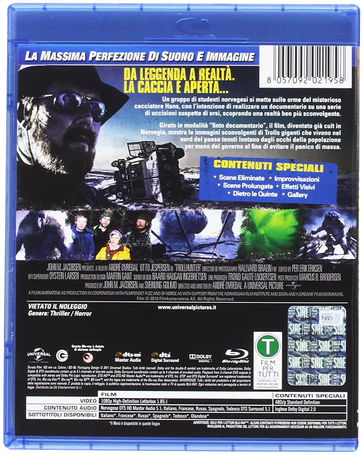 Troll Hunter [Italia] [Blu-ray]: Amazon.es: Glenn Erland Tosterud ...