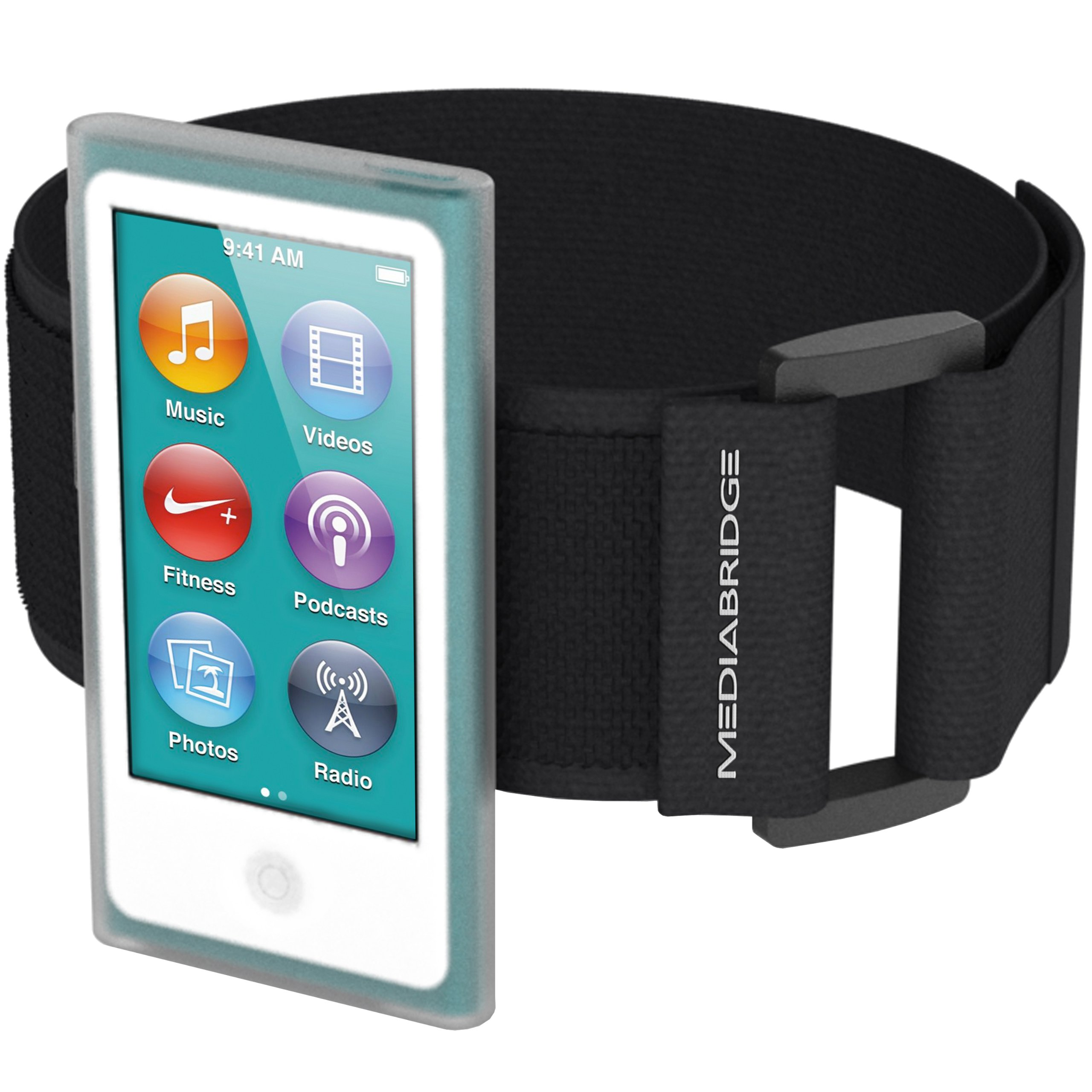 Armband for iPod Nano - 7th Generation / 8th Generation ( Clear ) - Model AB1 by Mediabridge (Part# AB1-IPN7-CLEAR )
