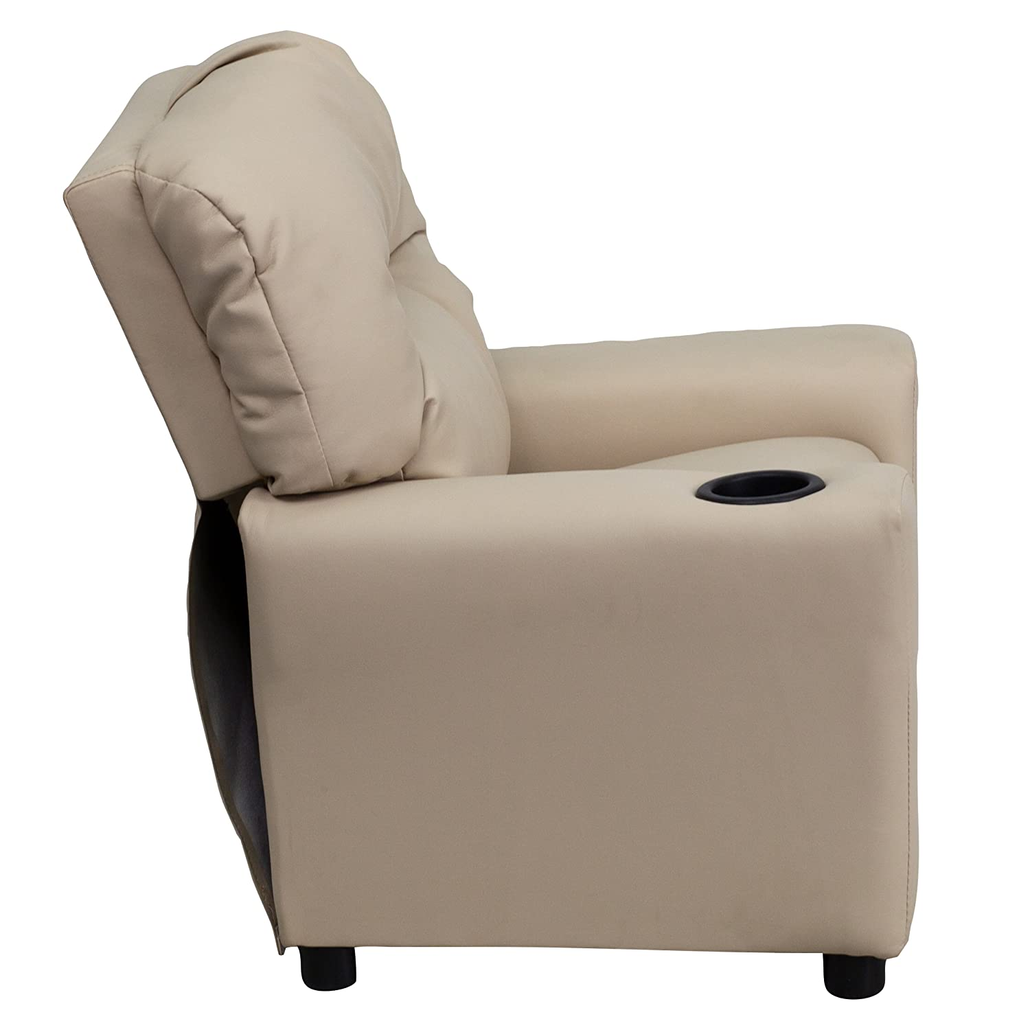 Amazon Flash Furniture Contemporary Beige Vinyl Kids Recliner