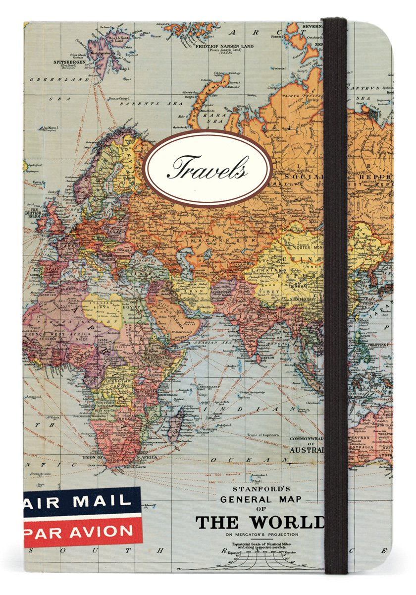Amazon cavallini small notebooks world map travels 4 x 6 amazon cavallini small notebooks world map travels 4 x 6 cavallini company home kitchen gumiabroncs Choice Image