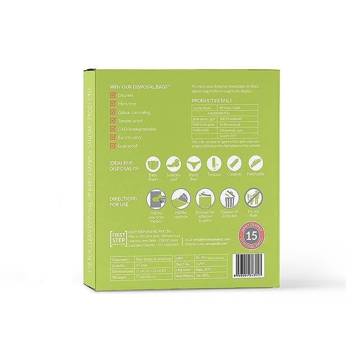 Pañales y bolsas de desechos sanitarios 100% Oxo Biodegradable hermético bolsas de (30 Bolsas): Amazon.es: Bebé