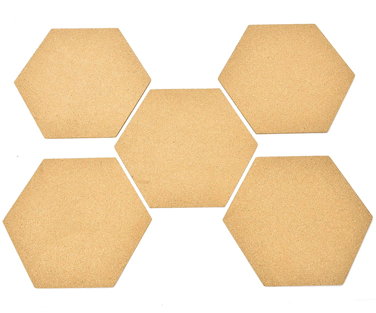 Amazon.com : 5 Pack Hexagon Cork Board Tiles with Adhesive - Buytra ...