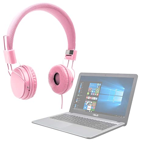DURAGADGET Auriculares De Diadema Color Rosa para Ordenador portátil ASUS ROG G752VS OC Edition | GL502VM