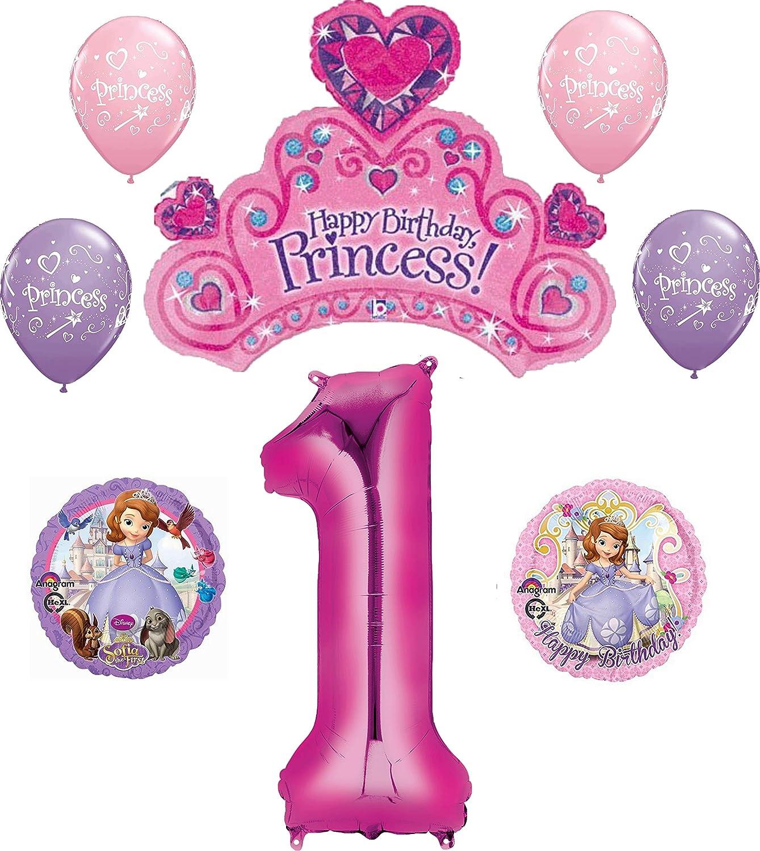 Amazon Com Disney S Sofia The First 1st Happy Birthday Party