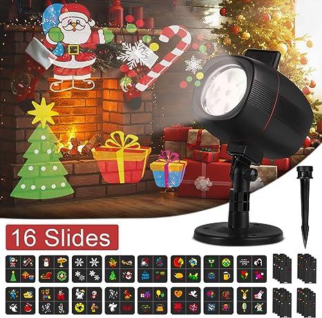 Christmas Projector Lights 16 Slides Waterproof IP65 Outdoor Landscape 6W