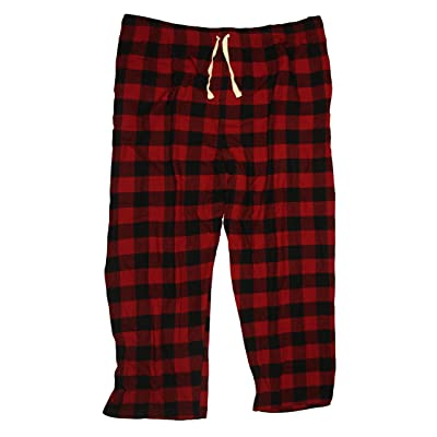 Joe Boxer Men's Big & Tall Flannel Lounge Pants (Red Plaid, XXXX-Large) at Men's Clothing store
