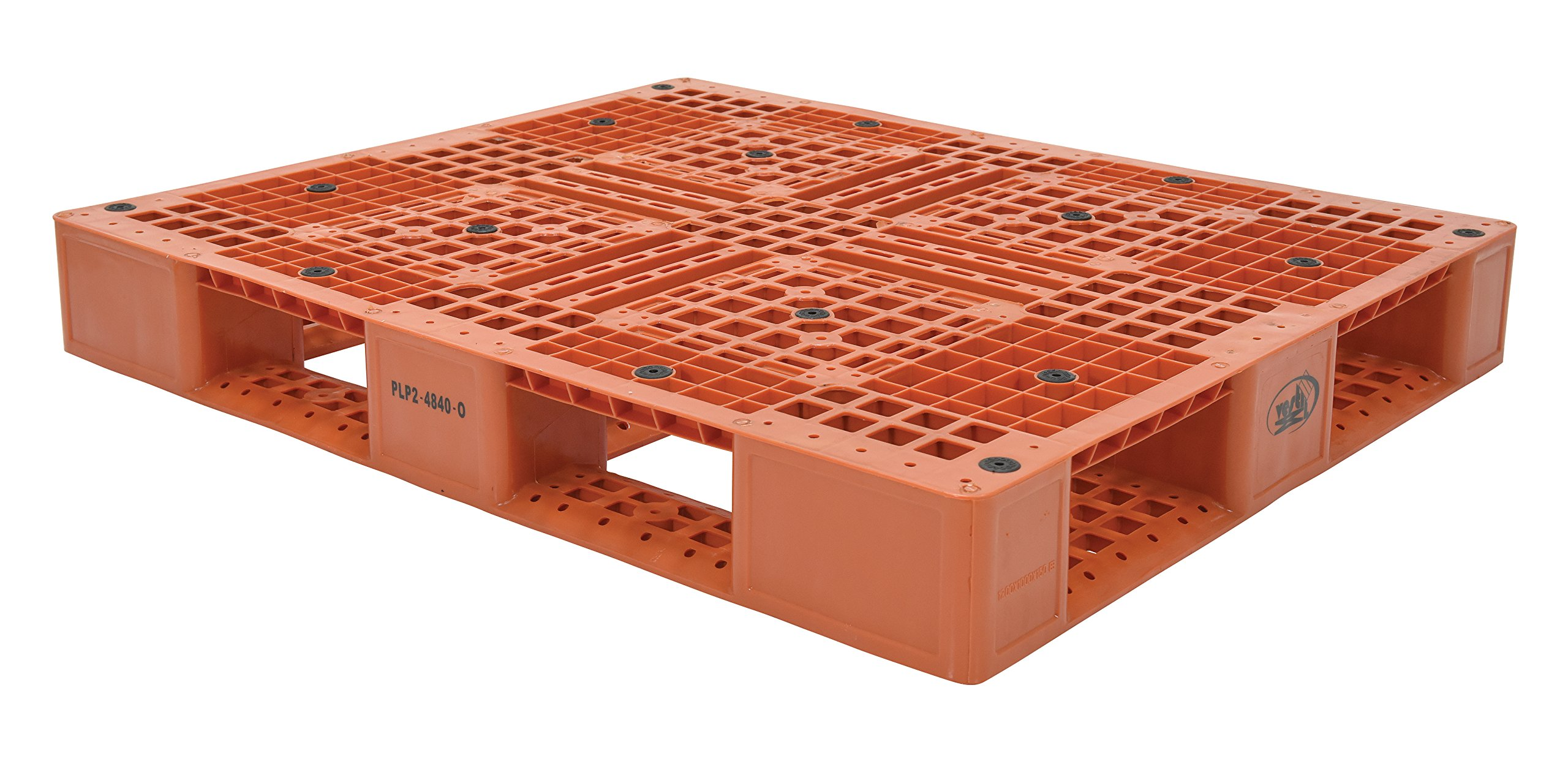 Vestil PLP2-4840-ORANGE Polyethylene Pallet with 4 Way Entry, 6600 lbs Capacity, 39.5'' Length, 47.375'' Width, 6'' Height