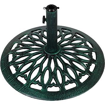pied de parasol en fonte