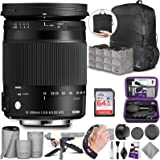 Sigma 18-300mm F3.5-6.3 Contemporary DC Macro OS HSM Lens for Canon DSLR Cameras with Altura Photo Advanced Accessory…