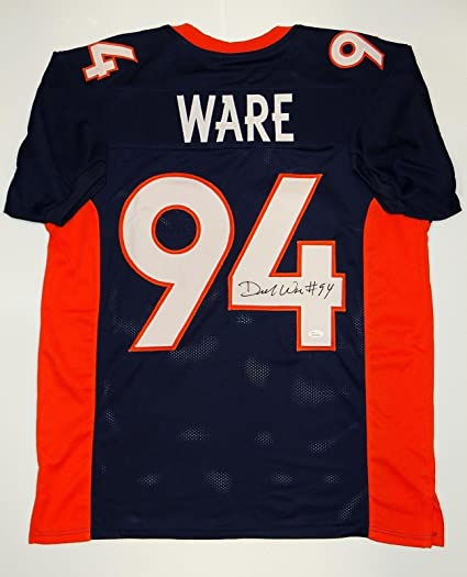 check out 8707a 7c6f1 DeMarcus Ware Signed Jersey - Blue W - JSA Certified ...