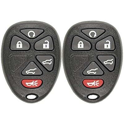 Keyless2Go Keyless Entry Car Key Replacement for Vehicles That Use 6 Button 15913427 OUC60270 Remote, Self-Programming - 2 Pack: Automotive