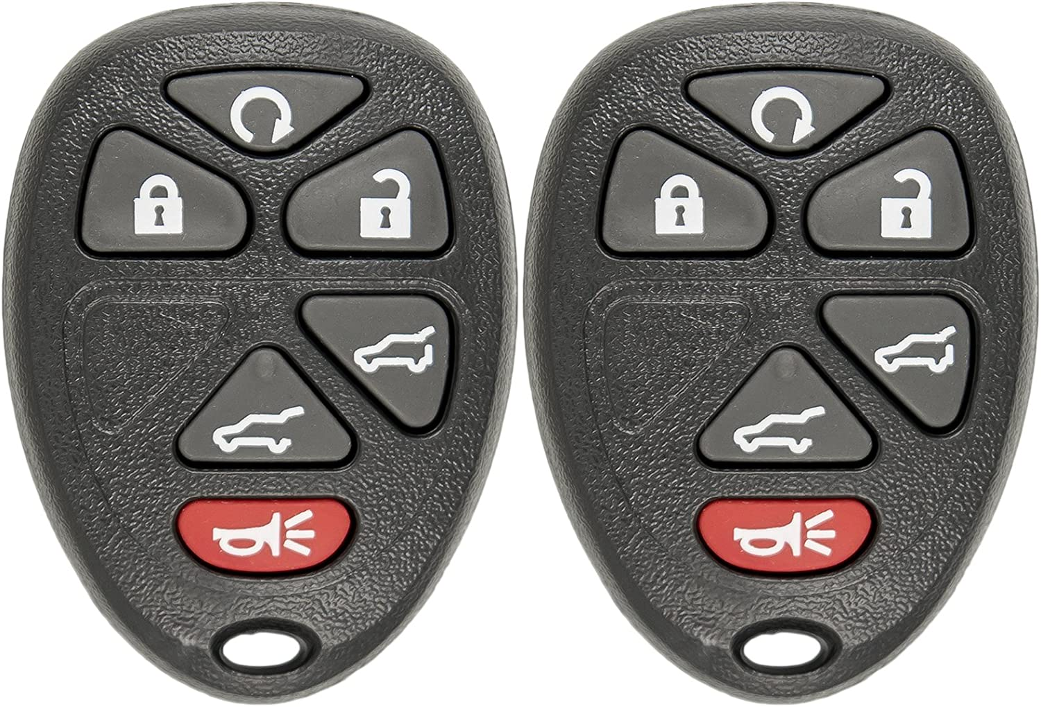 KeylessOption Keyless Entry Remote Control Car Key Fob Replacement for 15913427 with Key Pack of 2