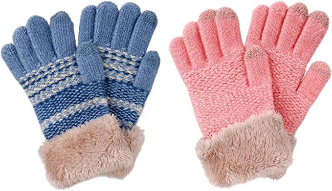 Childs Sheepskin Puddy Mittens with Thumb and Roll Up Cuff Luxury Warmth