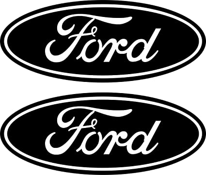 Amazon Com 2 Black Ford Emblem Decals Stickers 04 11 Ranger F150