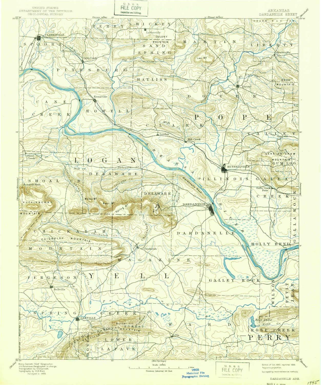 Amazon.com : YellowMaps Dardanelle AR topo map, 1:125000 ...