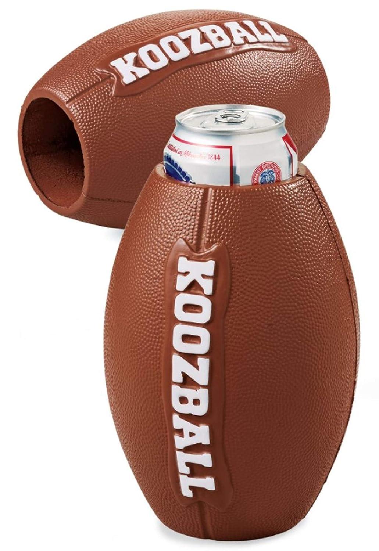 U.S POLY ENTERPRISE Koozball Throwable Football Can Cooler